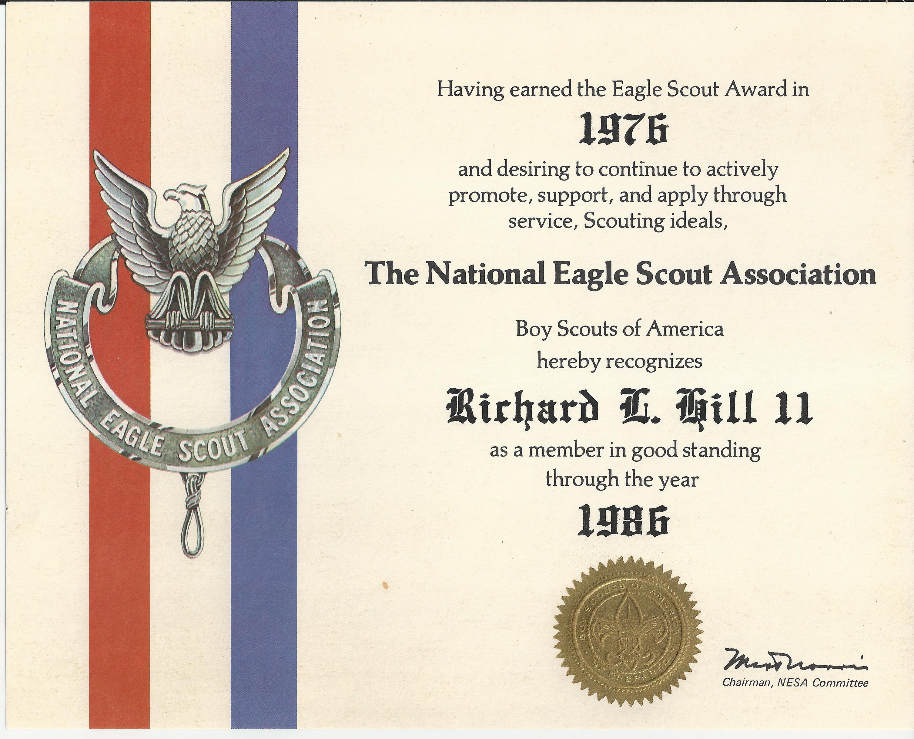 eagle boy scout award